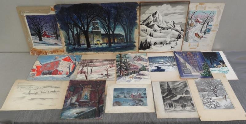 3: 15 Original Winter Scenes on Paper or Board.