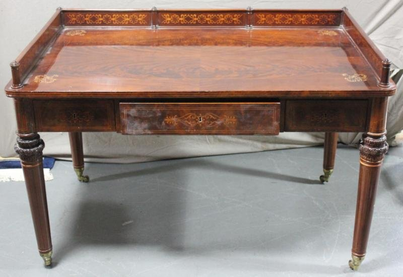Beautiful Antique Continental Inlaid Writing Desk.