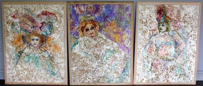 3 Paintings of Female Performers.