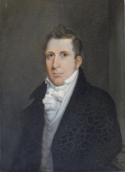 Oil on Panel Portrait of a Gentleman.