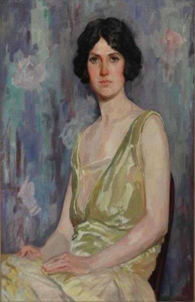 MCMANUS, James Goodwin. 1927 O/C Portrait of a Beauty.