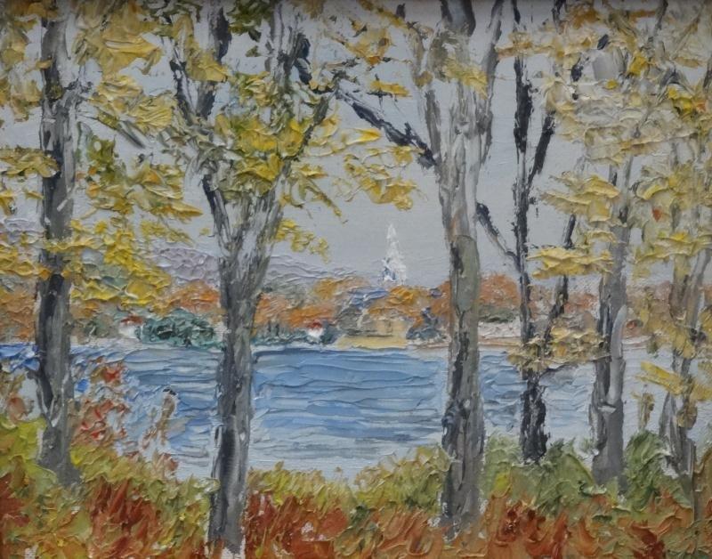 BAUM, W.E. 1926 Oil on Canvas Board Landscape.