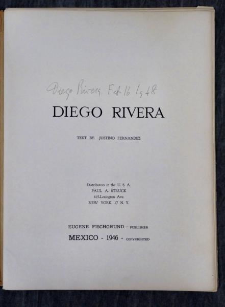 RIVERA, Diego. 1948 Signed Portfolio.
