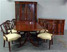 Magnificent 9 Piece Mahogany Inlaid & Banded