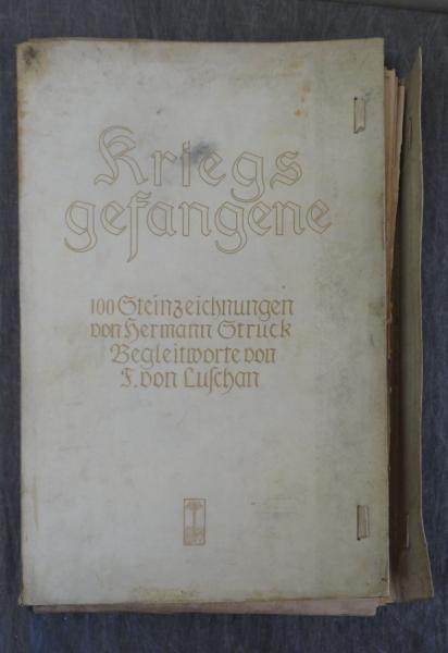 """STRUCK, Hermann. """"Kriegsgefangene"""" Portfolio of"""