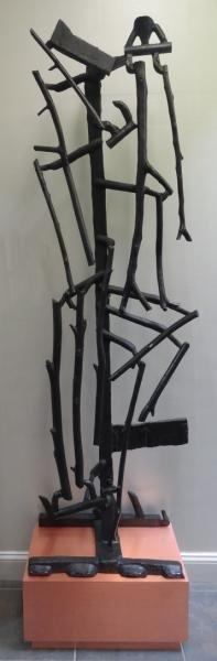 "ARNOLDI, Charles. 1986 Abstract Bronze ""Buddy."""