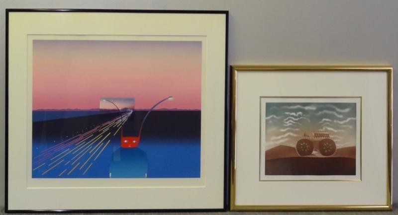 FOLON, Jean-Michel. Two Prints.