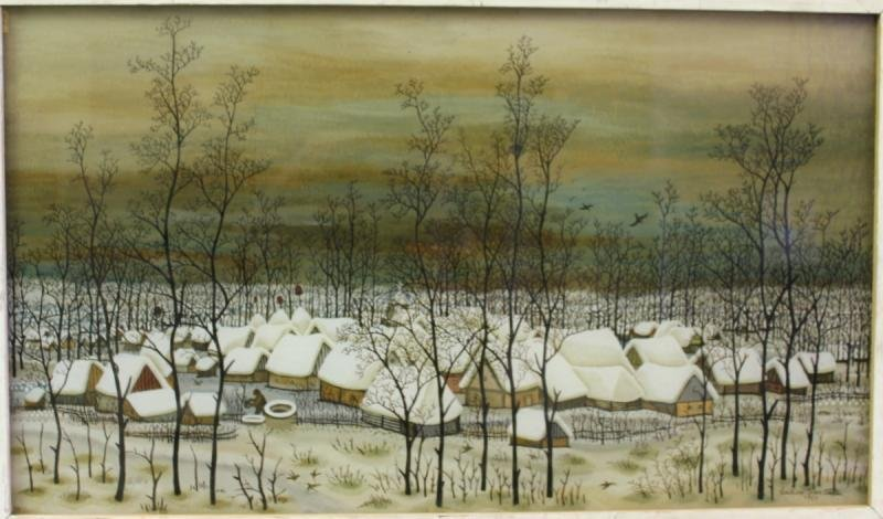CROATA, Ivan Lackovic. Reverse Painting on Glass.