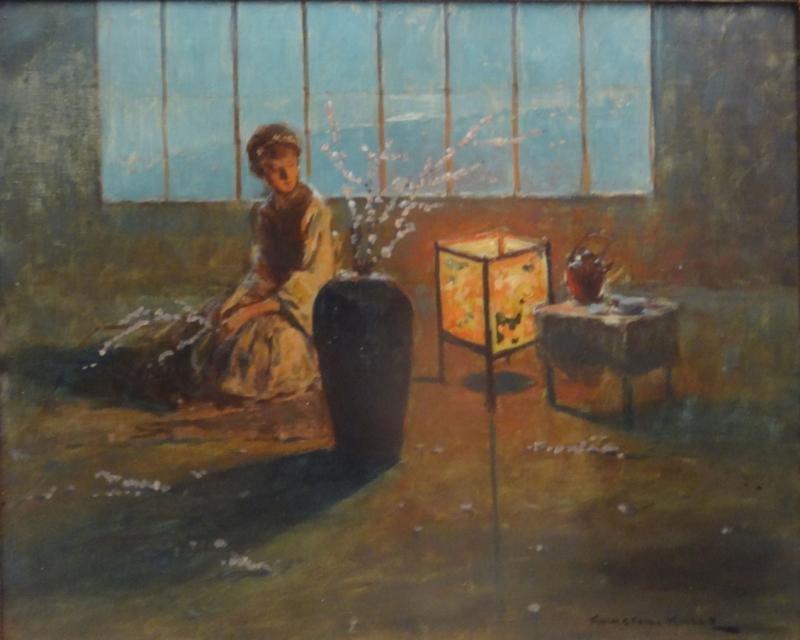 KACKS, Kamaroni. Oil on Canvas. Interior with