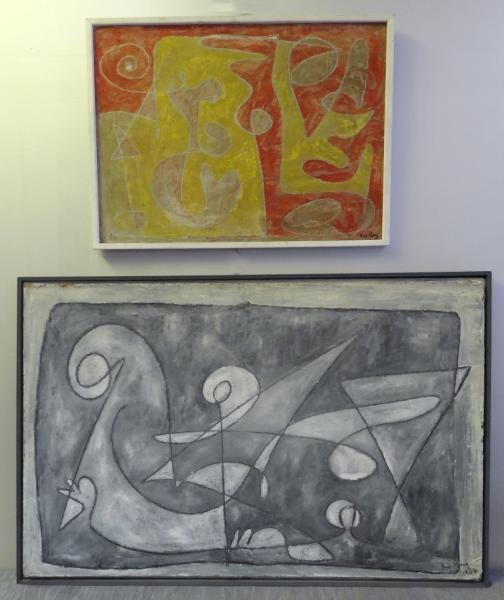 RAY, Rudolf. Two Mid 20th C. Abstract Works.