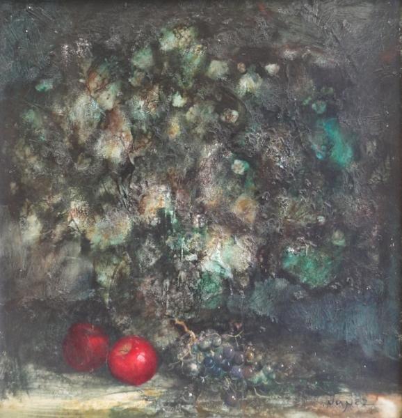 NUNEZ, Guillermo. Oil/Canvas Abstract Still Life.