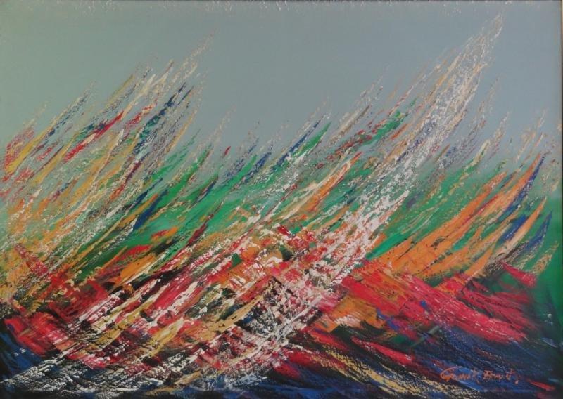 ERMAN, Gunner. Abstract Oil on Canvas.