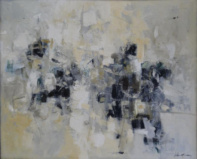 YOUNG, John Chin. 20th C. Abstract Oil on Canvas.