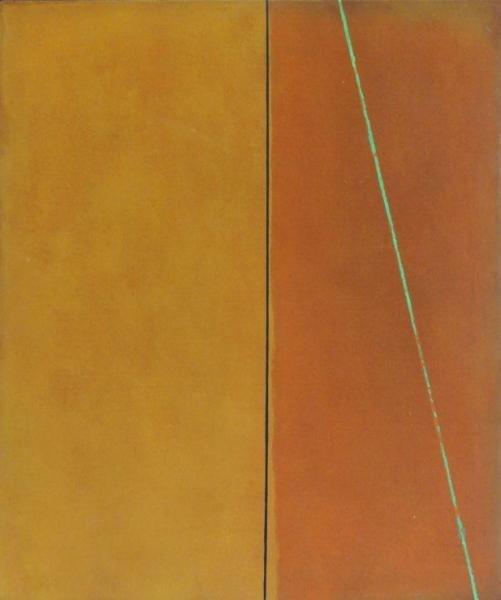 JARAMILLO, Virginia. 1973 Abstract Oil on Canvas.