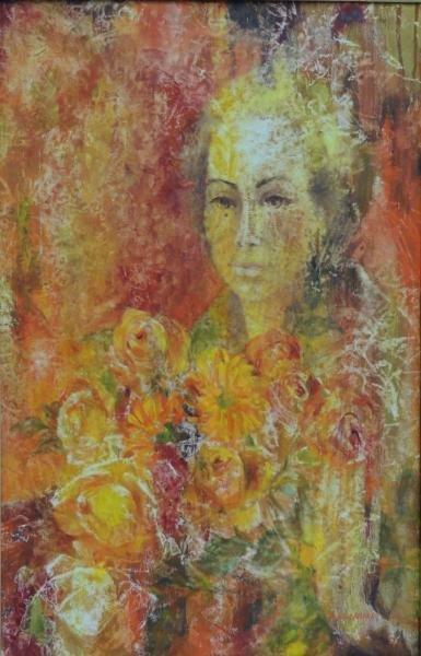 KURLANDER, Honey W. Oil on Canvas Portrait.