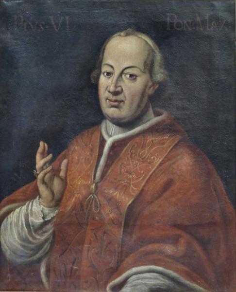 18th / 19th Century Oil on Canvas of Pope Pius VI.