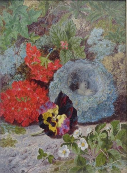WORSEY, Thomas. Oil on Canvas Still Life with