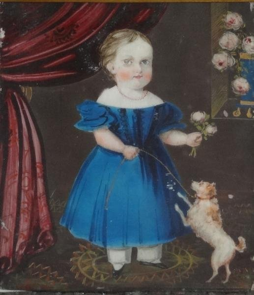 Early Miniature Portrait on Ivory of Child with