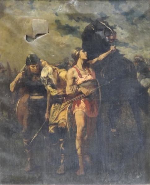 LUMINAIS, Evariste-Vital. Oil on Canvas. Classical