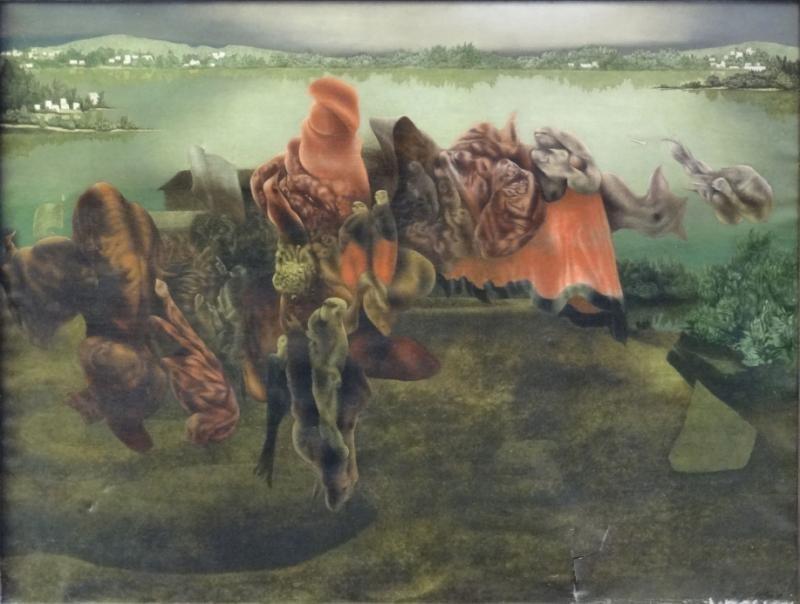"OELZE, Richard. 1935 Oil on Canvas ""Archaic"