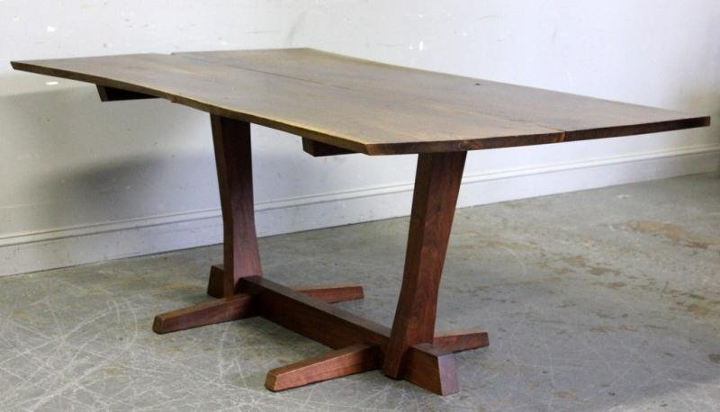 Fine and Rare George Nakashima Conoid Dining Table
