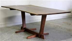 Fine and Rare George Nakashima Conoid Dining Table