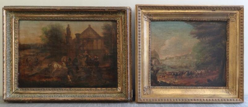 Two Old Master Oils on Canvas.