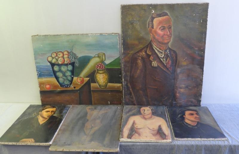 BOCCINI, Manuel. 6 Oils on Canvas.