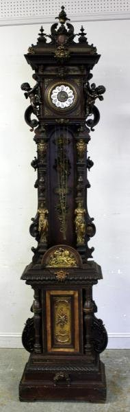 Magnificent Bronze Mounted and Enamel Face Tall