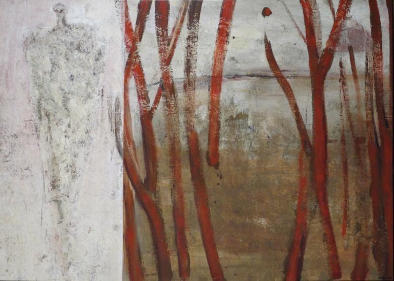 STRELNIK, Piotr. Oil on Canvas Abstract Landscape