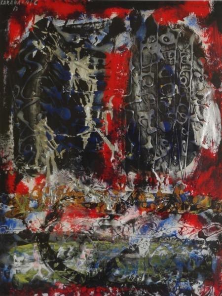 KARAHALIOS, Constantin. Abstract Mixed Media on