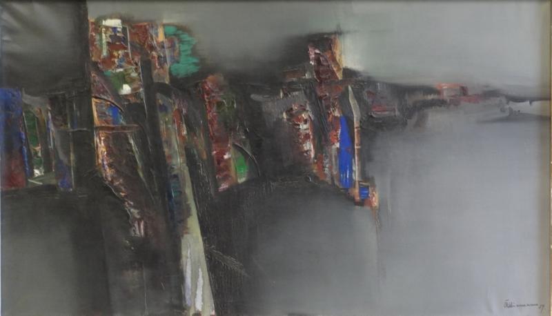 KLIEMANN, Carl Heinz. 1959 Abstract Oil on Canvas.