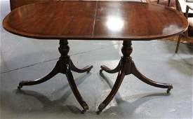 Kittinger Signed Mahogany Banded Dining Table