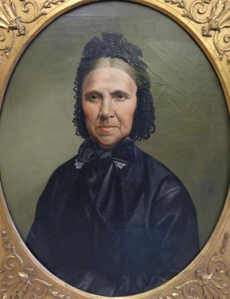 19th C. Oil on Canvas Portrait of an Elderly Woman