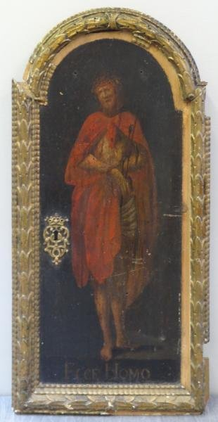 19th C. Oil on Panel Icon of Christ.