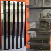 Paul Evans Midcentury Chrome and Black Lacquer