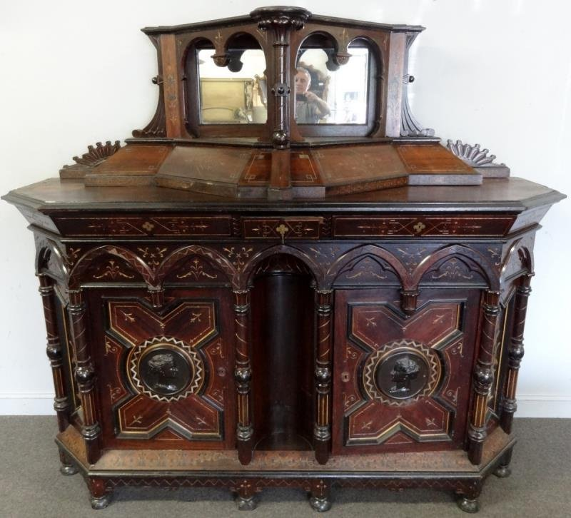 Magnificent And Large Victorian Server With