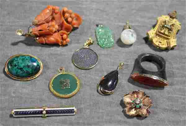 JEWELRY. Ladies Jewelry Grouping Including 14kt.