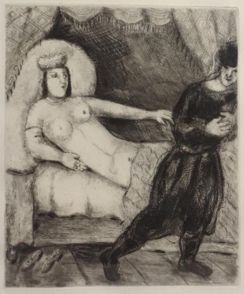 """CHAGALL, Marc. Etching """"La Femme de Potiphar."""""""
