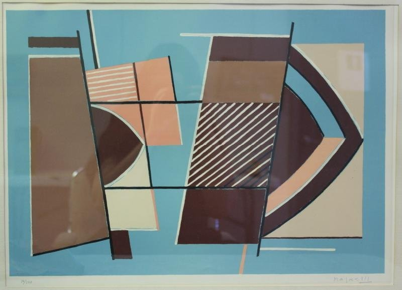 MAGNELLI, Alberto. Abstract Color Lithograph.