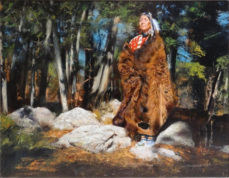 "KUCERA, David E. Oil on Board ""Strange Owl's"