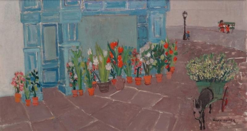 CHABOR, Moura. Oil on Canvas. Flower Shop with