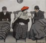 NEWELL, Peter. Gouache Illustration of Figures