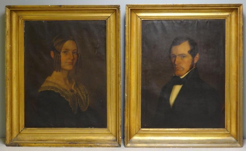 CURTIS, Charles. Pair of Mid 19th C. American