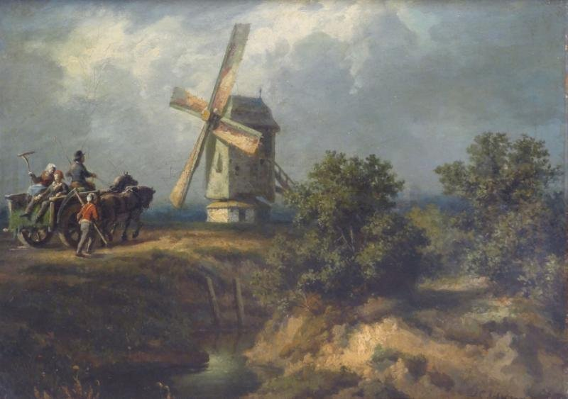 """IBBETSON, Julius C. Oil on Canvas """"The Mill."""""""