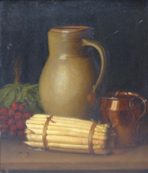 BREHMER, Emil. 19th Century Oil on Board Still