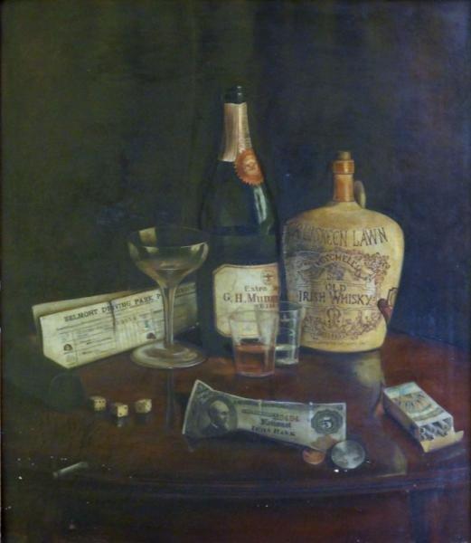 """AUSTRIAN, Ben. Oil on Canvas. """"Temptations."""""""