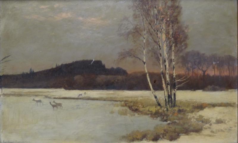 MORGENSTERN, Karl Ernst. Oil on Board Winter