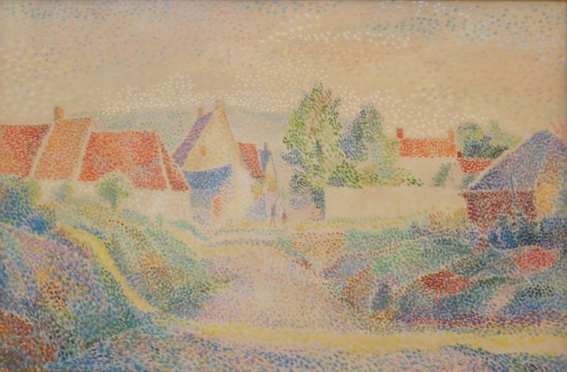 """PETITJEAN, Hippolyte. Watercolor """"Le Sentier Au"""