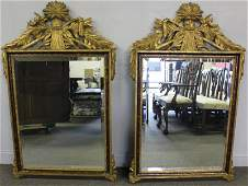 Pair of Vintage French Style Gilded Mirrors.